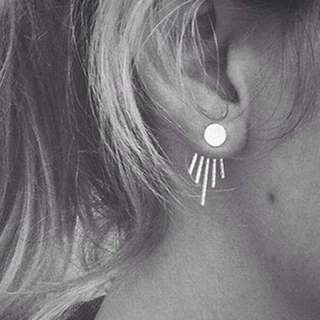 02672Fr-Anting- Creative Vertical Earrings Silver Silver