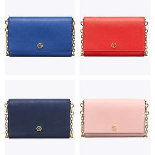 多色*Tory Burch Chain Wallet