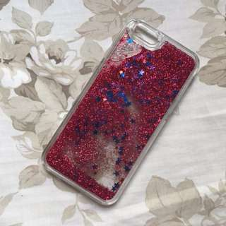 iPhone 6/6s Red Glitter Case ( Pull & Bear )