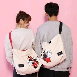 PO Unisex Couple Mickey Minnie 2 Ways Bag