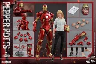 Hot Toys Iron Man 3 Mark IX and Pepper Potts