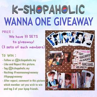 KSHOPAHOLIC WANNA ONE GIVEAWAY