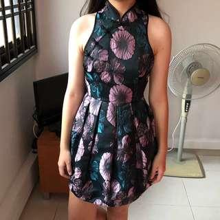Floral Qipao Dress