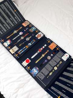 Swatch historical olympic games collection 9 pcs on set