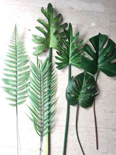 Fake plants ferns flowers leaves starting from $8