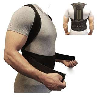 Back Brace Posture Corrector Fully Adjustable Back Support Belts Improves Posture and Provides Lumbar Support For Lower and Upper Back Pain Men and Women (S)