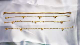 916 adult anklets @current gold price