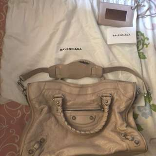 Balenciaga City Bag 蝦肉色