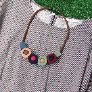 Chunky Fabric Necklace