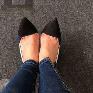 Blue white heels