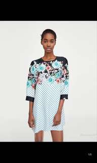 Europe and the United States flower print dress