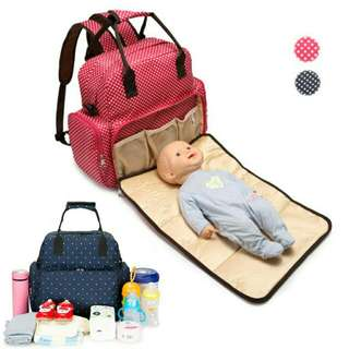 *FREE DELIVERY to WM only / Ready stock* Mummy nursery bag each as shown design/color red. Free delivery is applied for this item.