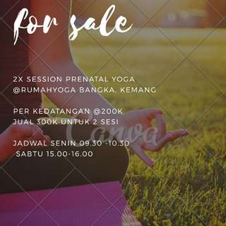 2x session prenatal yoga at rumahyoga kemang