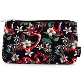 Loungefly x Mushu Tropical Print Coin / Cosmetic Bag