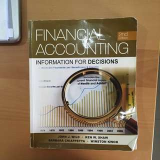 Financial Accounting Information For Decisions ACC1002