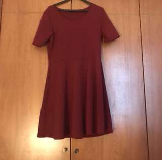 Seed Red/Maroon Formal Shift Dress (Plus Size)