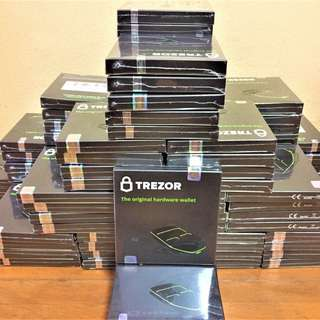 Trezor Hardware Wallet brandnew sealed box 100%