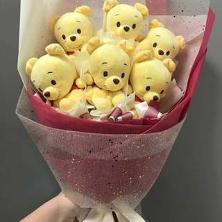 Graduation Bear Bouquet Winnie the Pooh flower bouquet