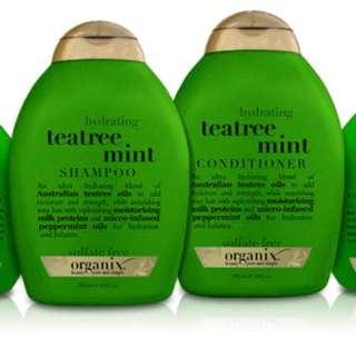OGX Teatree Mint Shampoo & Conditioner