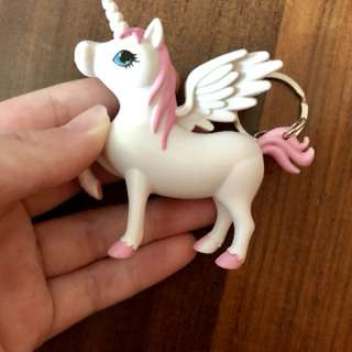 Unicorn light up keychain