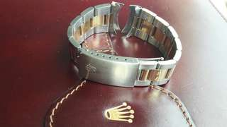 Genuine Rolex Oyster bracelet 14k gold/steel two tone 19 mm