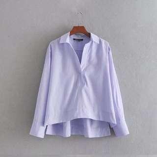 🔥Lapel hem asymmetrical blouse