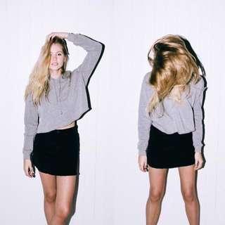 BNWOT brandy melville heather grey lennon fleece hoodie