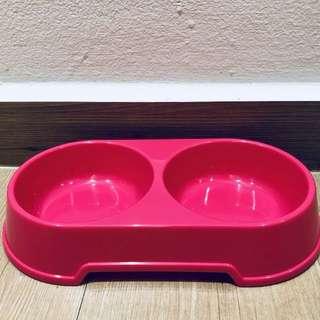 Pink Pet Food & Water Dish/Bowl