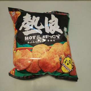 New 全新 中包 Hot & Spicy chips 55g