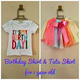 Birthday Shirt and Tutu Skirt Set