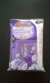 Gatsby Ice-Type Deodorant Body Paper Ice Fruity