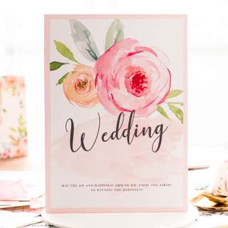 Wedding Guest Book Flamingo
