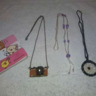 Necklace bundle with free note pad