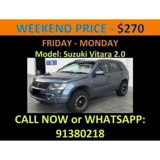 Suzuki Vitara 2.0A Weekend Car Rental March