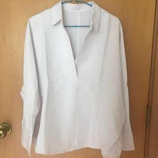 Brand New Cotton White Blouse