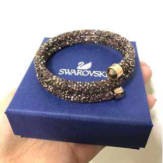 Brand New Authentic Swarovski Crystaldust Double Bangle in Rosegold (SALE PRICE)