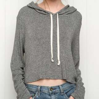 BNWT brandy melville speckled light grey lennon hoodie