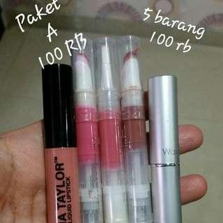 Lips paket dapat 5 barang