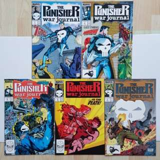 Marvel Comics Punisher War Journal 1 to 5 Complete Story Arc Jim Lee Art