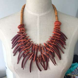 Brand new handmade African style tier wooden necklace