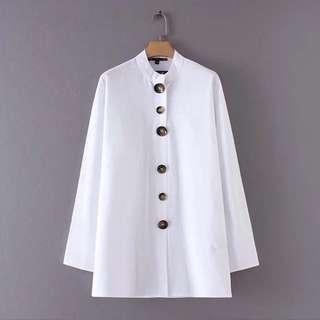 🔥Europe linen button blouse