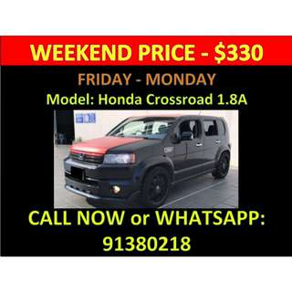 Honda Crossroad 1.8A Weekend Car Rental March