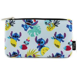 Loungefly x Stitch, Scrump & Fruit Print Coin / Cosmetic Bag