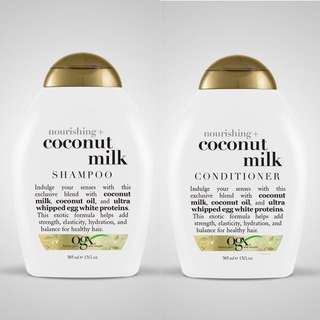 Ogx Sulfate-Free Coconut Milk Shampoo and Conditioner. Made in USA!