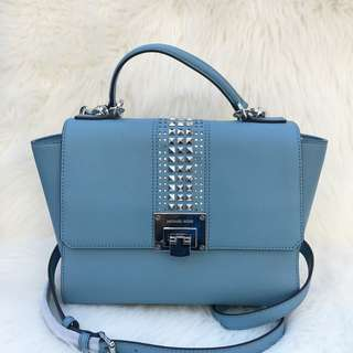 Michael Kors Tina Studded Md in Skyblue