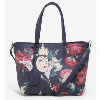 ONHAND! Loungefly x Disney Snow White Evil Queen Floral Tote