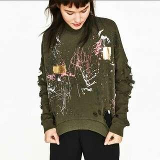 Zara Graffiti Sweatshirt / Pullover / Sweater