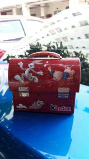 Kinder choco tin box