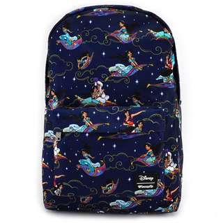 Loungefly x Aladdin Carpet Ride Print Backpack