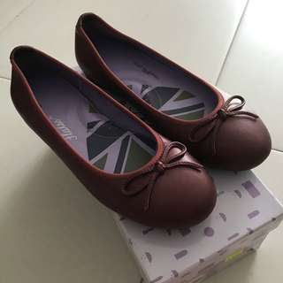 Burgundy Red Maroon Flats from Rad Russel